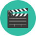 Small icon depicting movies